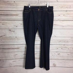 ellos high waisted boot cut jeans